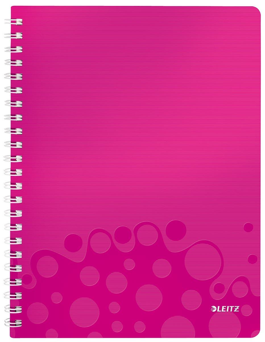 Leitz WOW schrift ft A4, geruit 5 mm, roze
