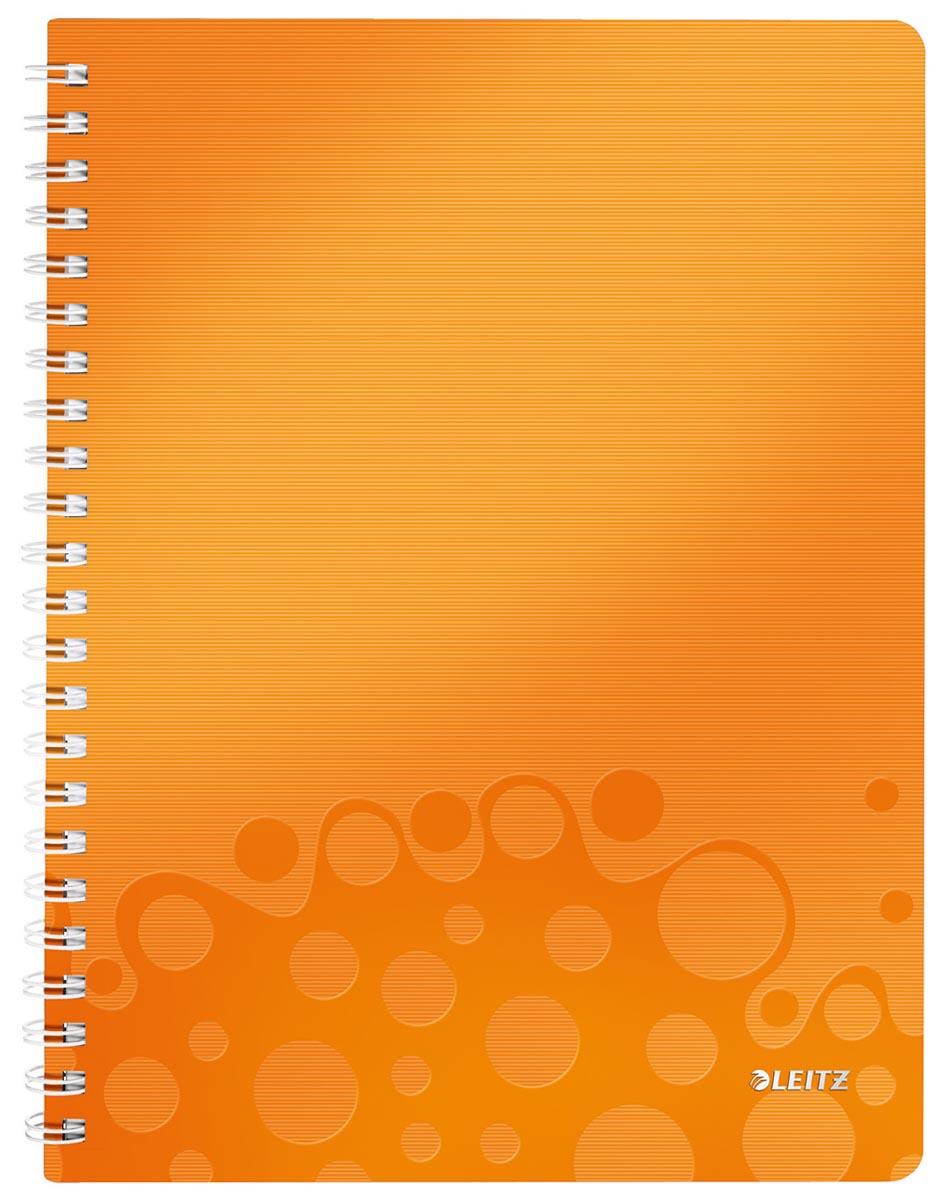 Leitz WOW schrift ft A4, geruit 5 mm, oranje