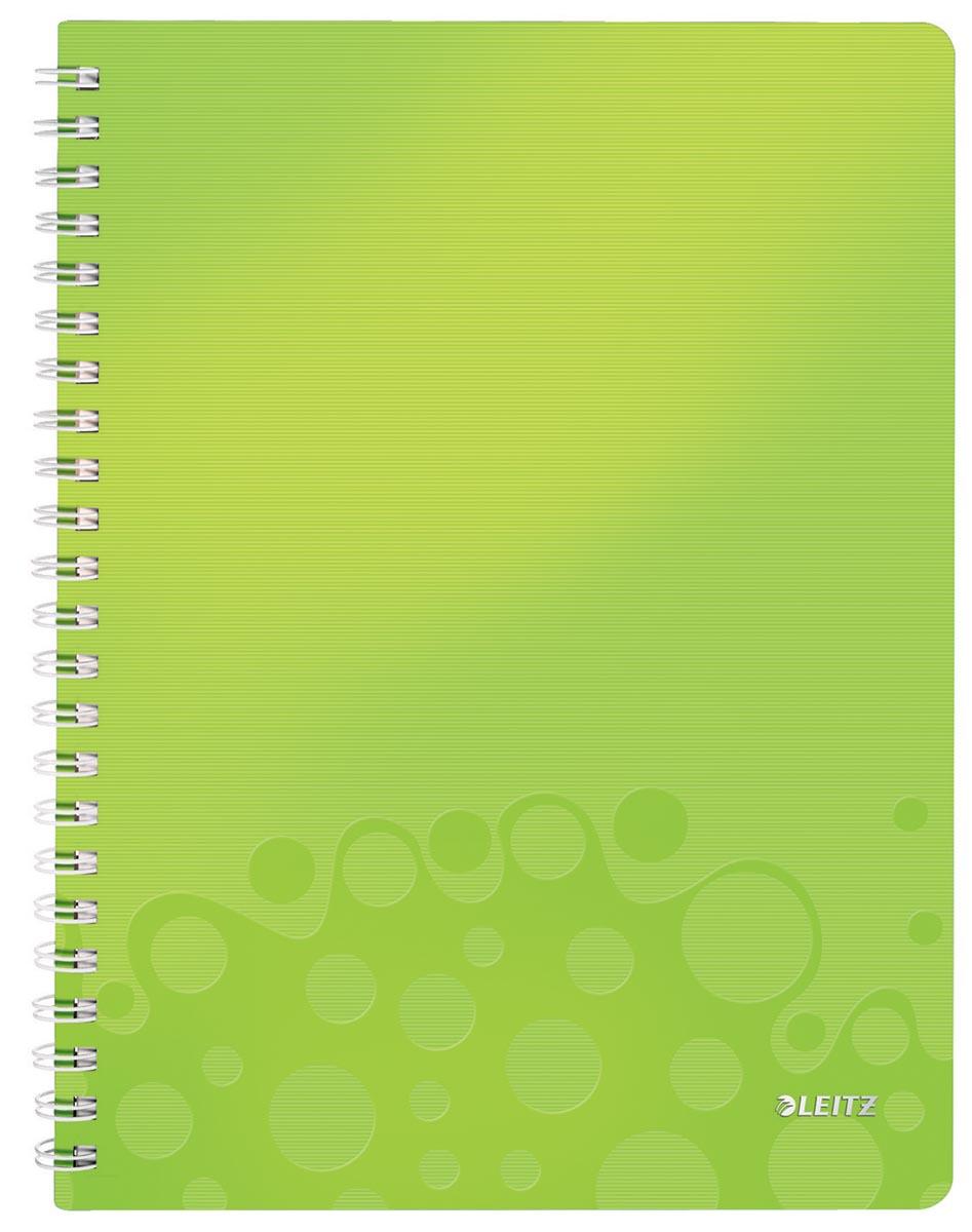 Leitz WOW schrift ft A4, geruit 5 mm, groen
