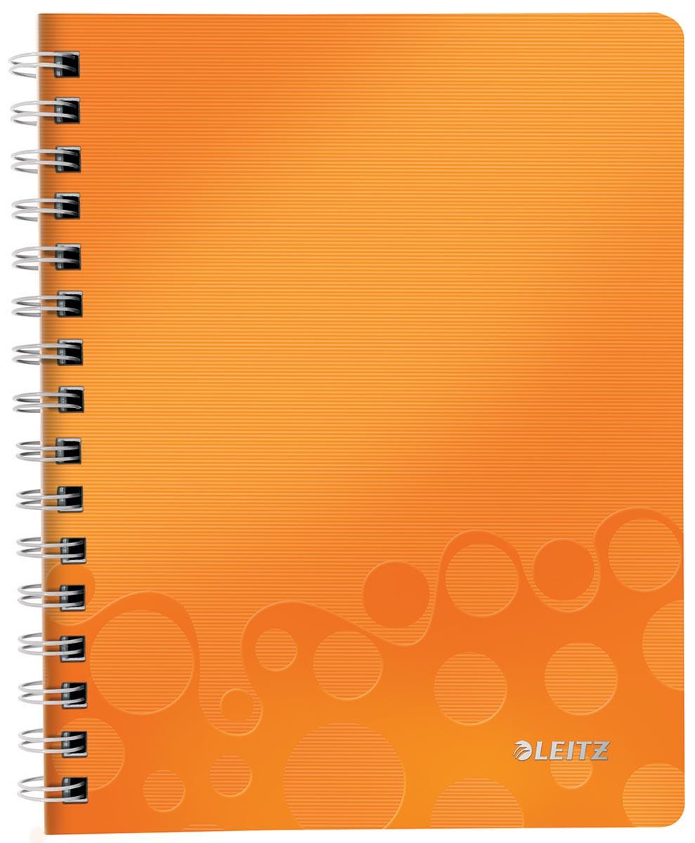 Leitz WOW schrift ft A5, gelijnd, oranje