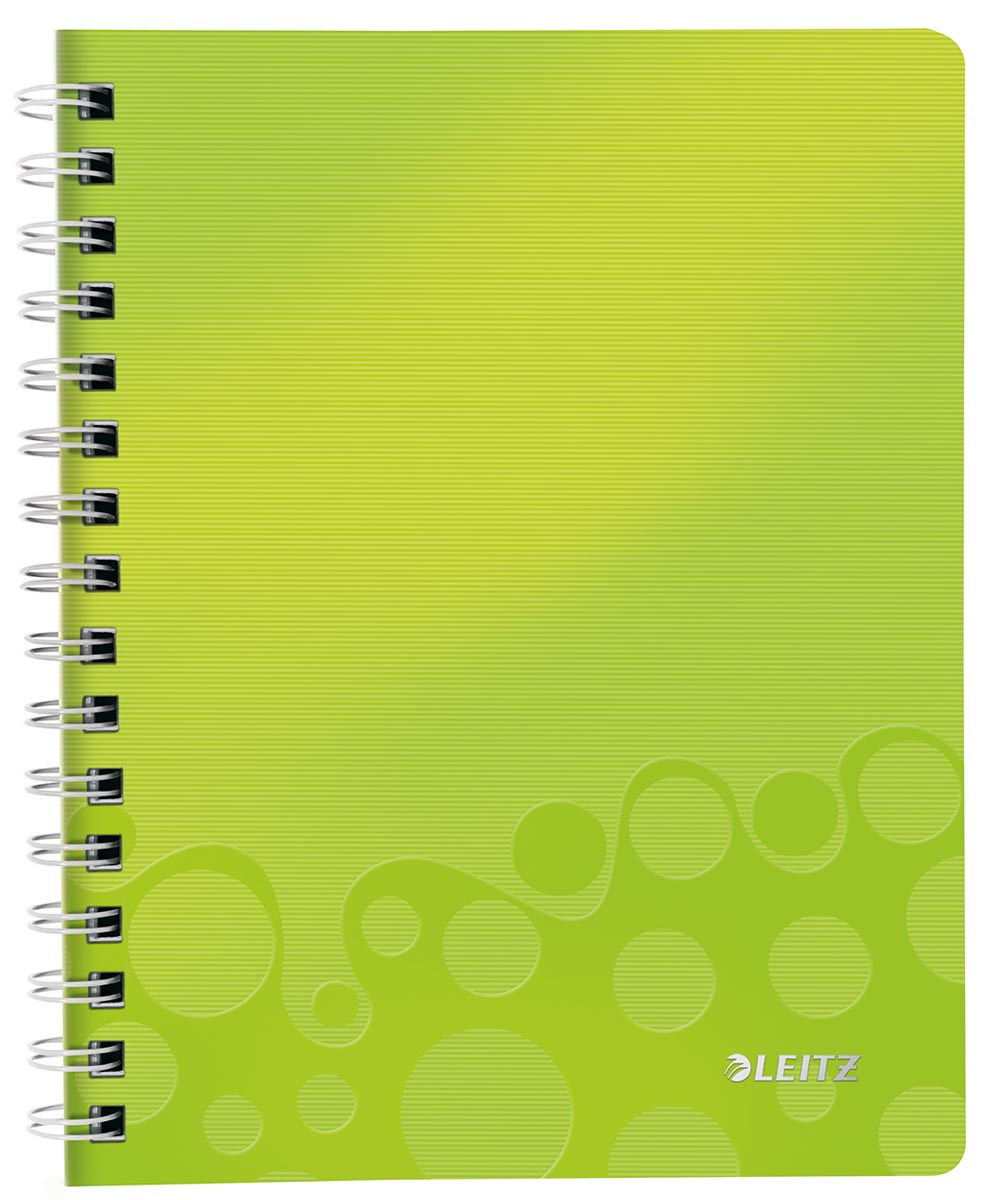 Leitz WOW schrift ft A5, gelijnd, groen