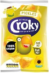 Croky chips pickles, zakje van 100 gram