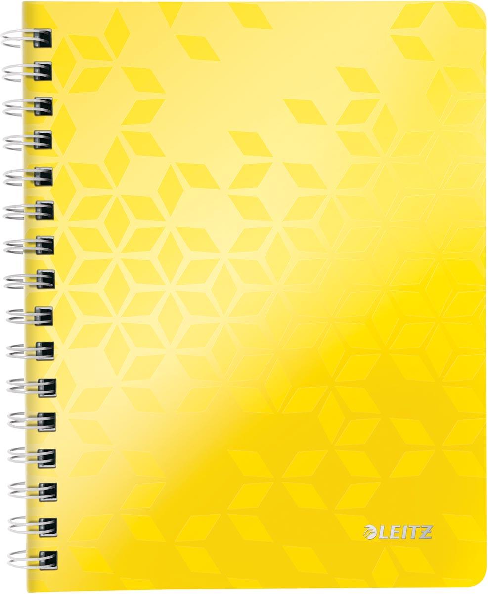 Leitz WOW schrift ft A5, geruit, geel