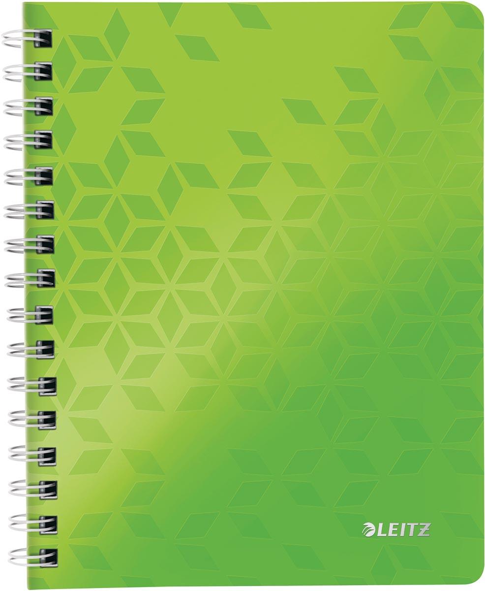 Leitz WOW schrift ft A5, geruit, groen