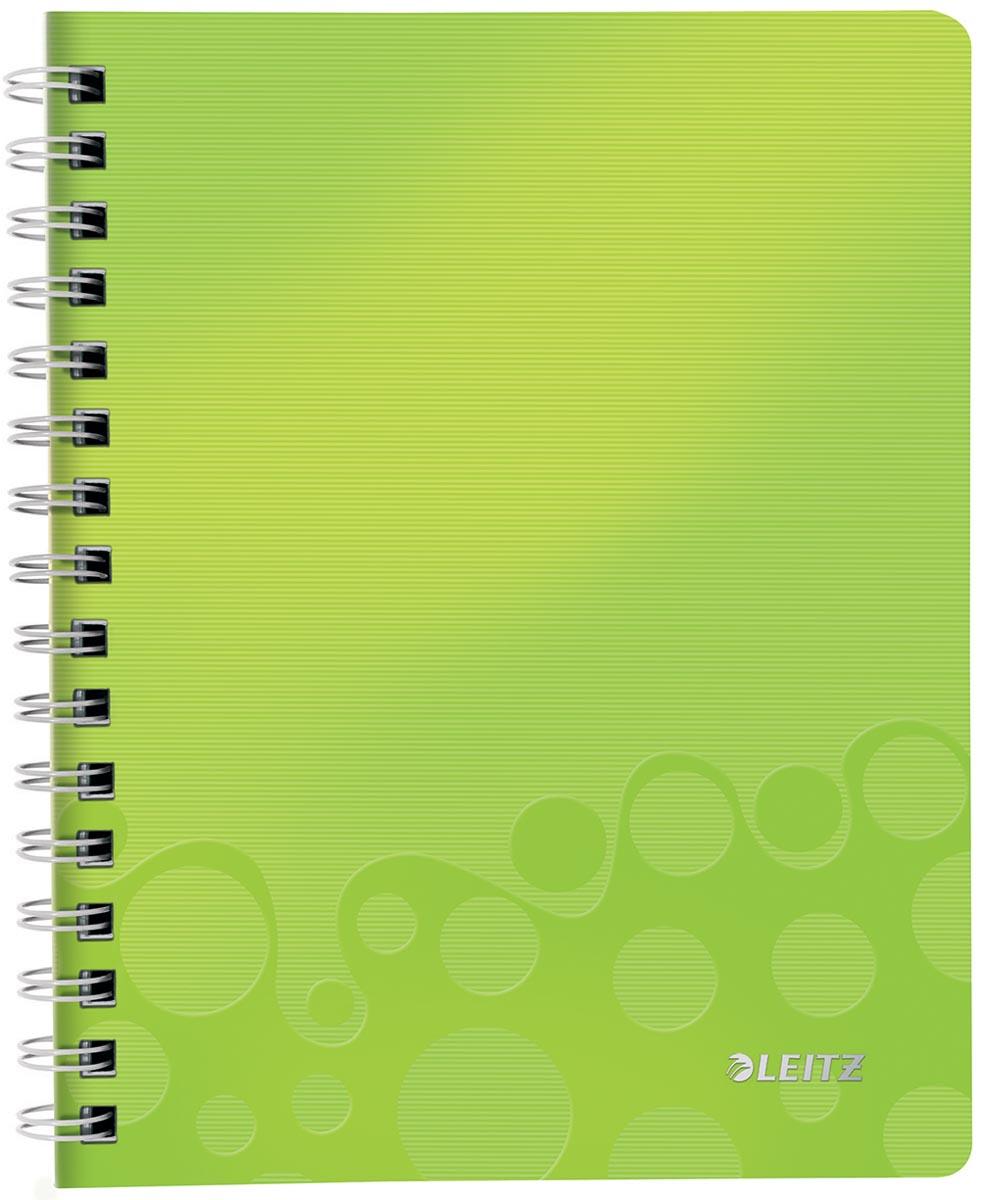 Leitz WOW schrift ft A5, geruit 5 mm, groen