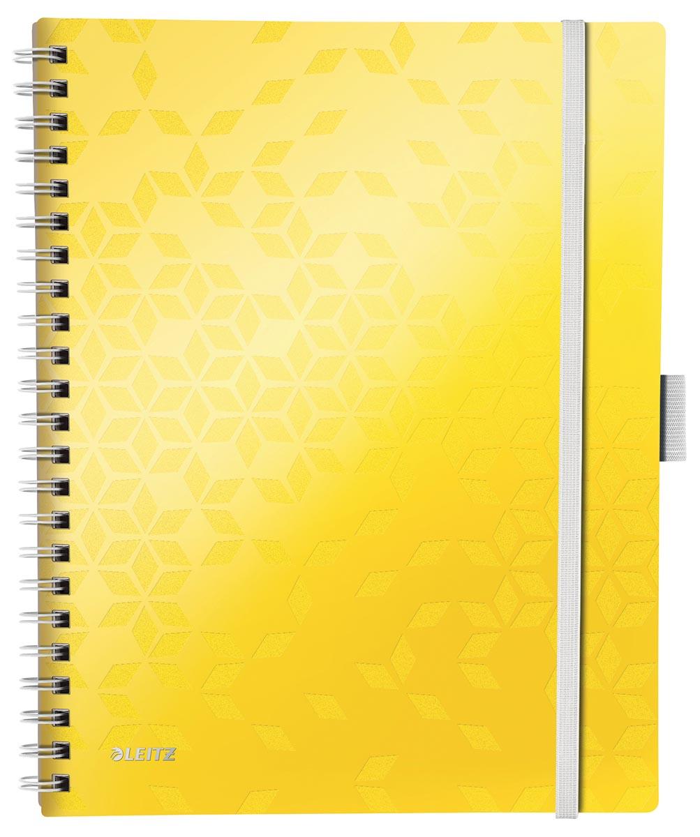 Leitz WOW schrift Be Mobile, ft A4, geruit 5 mm, geel