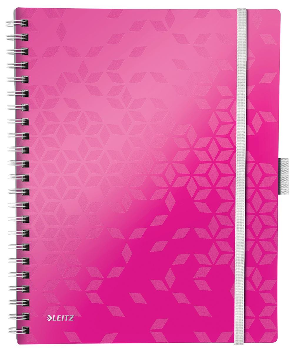 Leitz WOW schrift Be Mobile, ft A4, geruit 5 mm, roze
