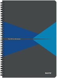 Leitz Office notitieboek, kartonnen kaft, ft A4, gelijnd, blauw
