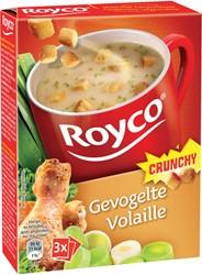Royco Minute Soup gevogelte met croutons, pak van 20 zakjes
