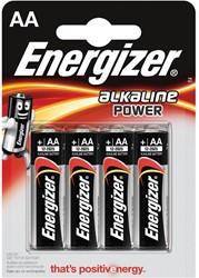 Energizer batterijen Alkaline Power AA, blister van  4 stuks