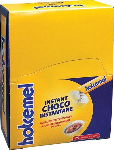 Hotcemel chocoladepoeder, pak van 25 zakjes