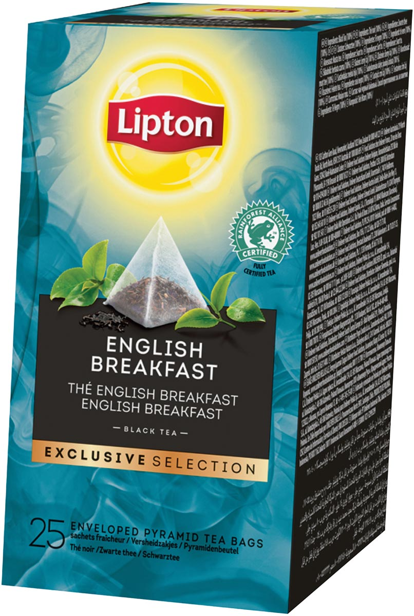 Lipton thee, English Breakfast, Exclusive Selection, doos van 25 zakjes