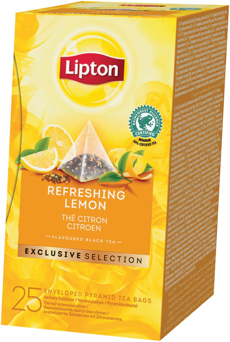Lipton thee, Citroen, Exclusive Selection, doos van 25 zakjes