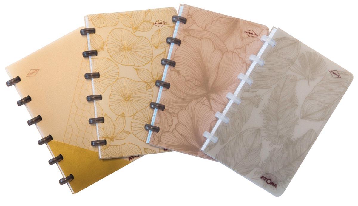 Atoma notitieboekje So Chic, ft A6, 120 bladzijden, blanco, geassorteerde kleuren