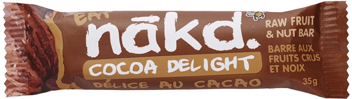 Nakd Cocoa Delight, reep van 35 g, pak van 18 stuks