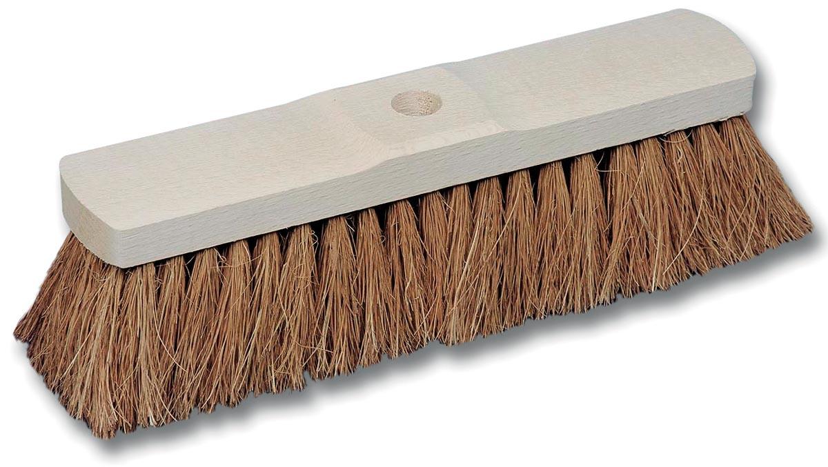 Kokosborstel in ongelakt hout van 60 cm