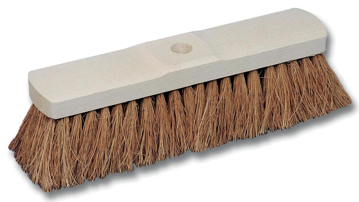 Kokosborstel in ongelakt hout van 32 cm