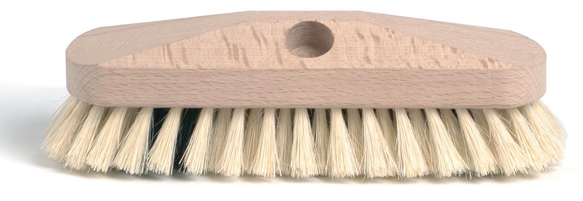 Schuurborstel met tampico haren, uit ongelakt hout, 23 cm