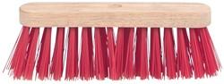 Schuurborstel met PVC haren, uit ongelakt hout, 29 cm