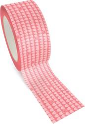 Graine Créative Queen Tape, ft 48 mm x 8 m, roze hartjes