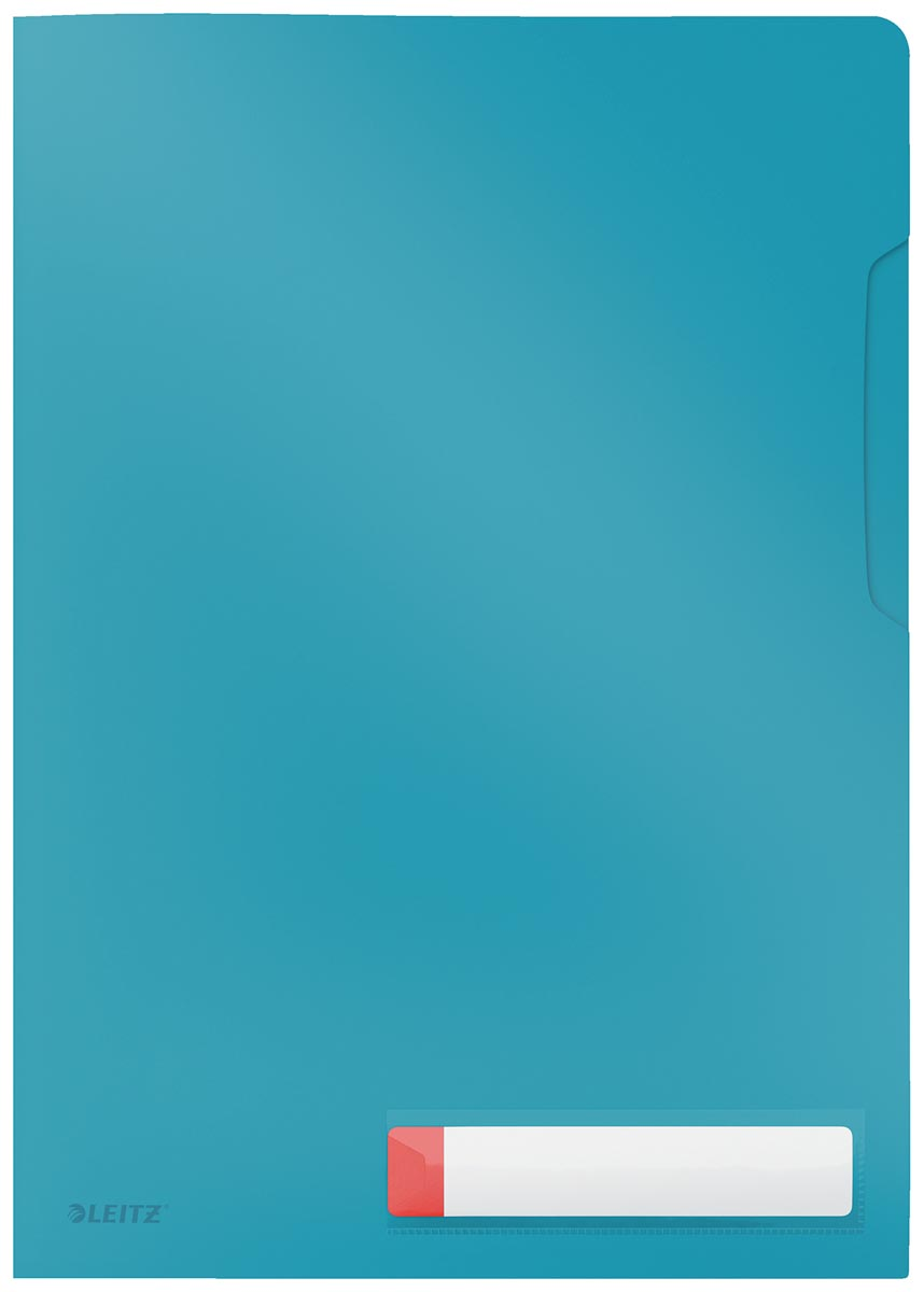 Leitz Cosy L-map, ft A4, PP van 200 micron, ondoorzichtig, blauw