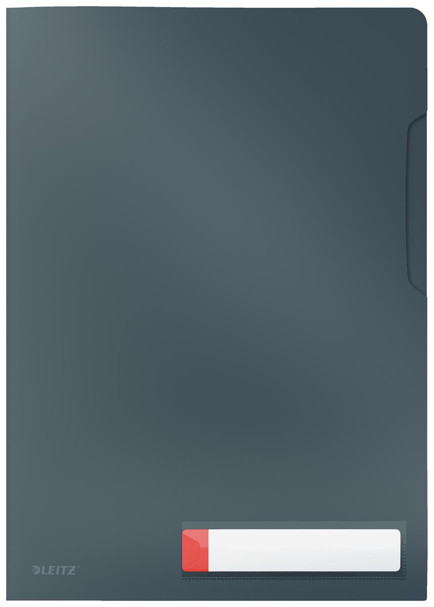 Leitz Cosy L-map, ft A4, PP van 200 micron, ondoorzichtig, grijs