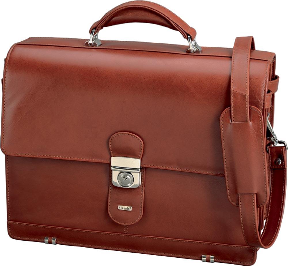 Alassio Mocca Aktentas voor laptop (15 inch), cognac, leder