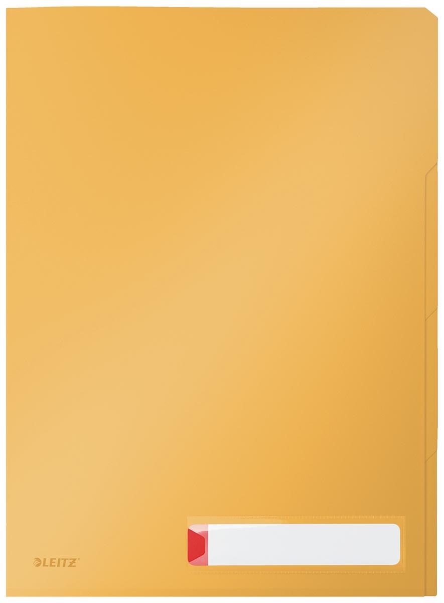 Leitz Cosy L-map met tabbladen, 3 compartimenten, ft A4, PP van 200 micron, ondoorzichtig, geel