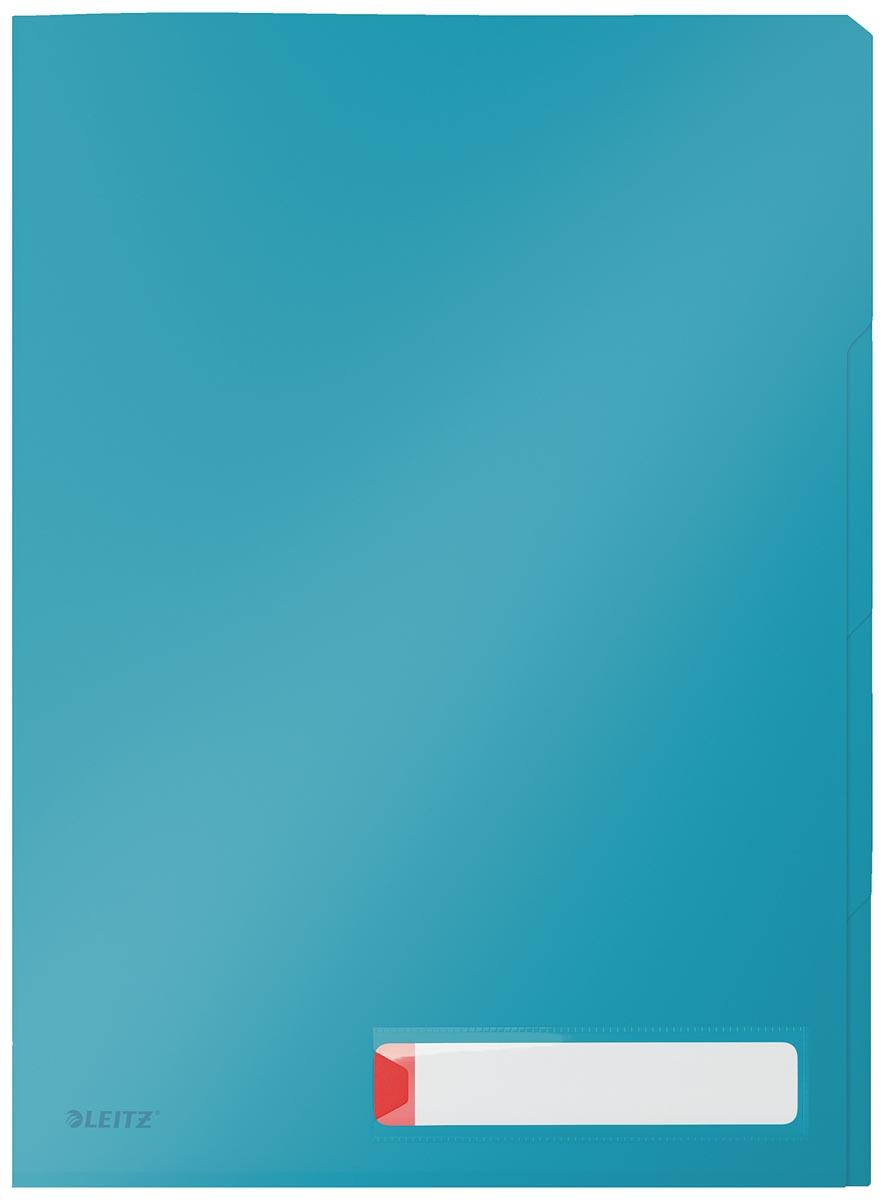 Leitz Cosy L-map met tabbladen, 3 compartimenten, ft A4, PP van 200 micron, ondoorzichtig, blauw