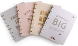 Atoma schrift Happy 70, ft A4, 144 bladzijden, commercieel geruit, geassorteerde kleuren