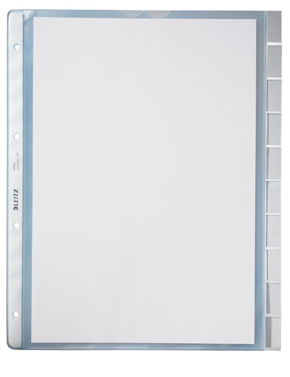 Leitz showtas ft A4 met tabbladen, uit harde PVC, pak van 10 stuks, 4-gaats perforatie