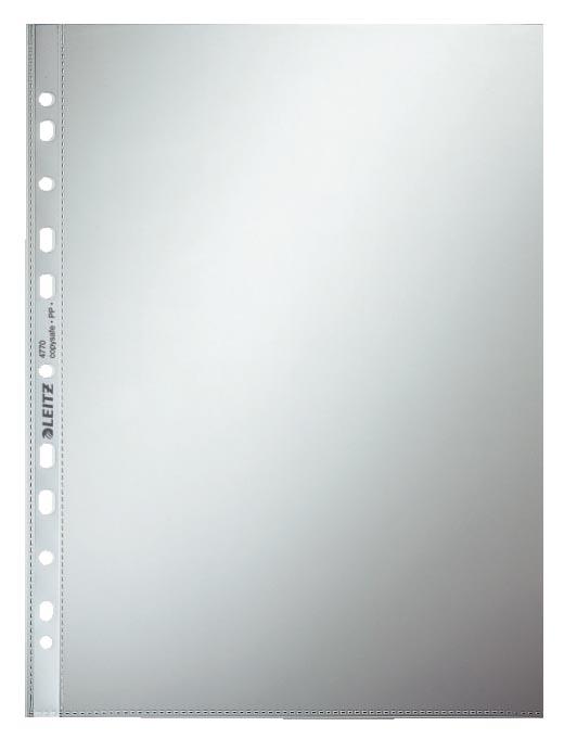 Leitz geperforeerde showtas 80 micron, glashelder, pak van 100 stuks