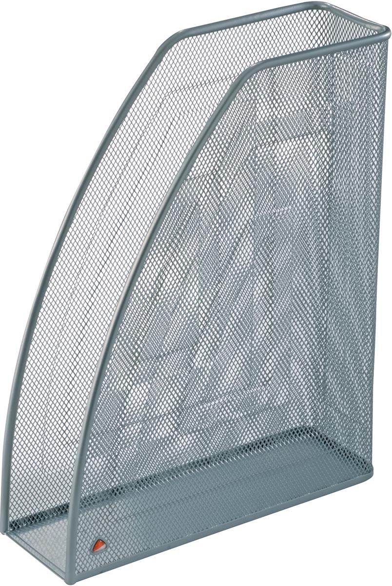 Alba tijdschriftenhouder in mesh metaal, zilvergrijs