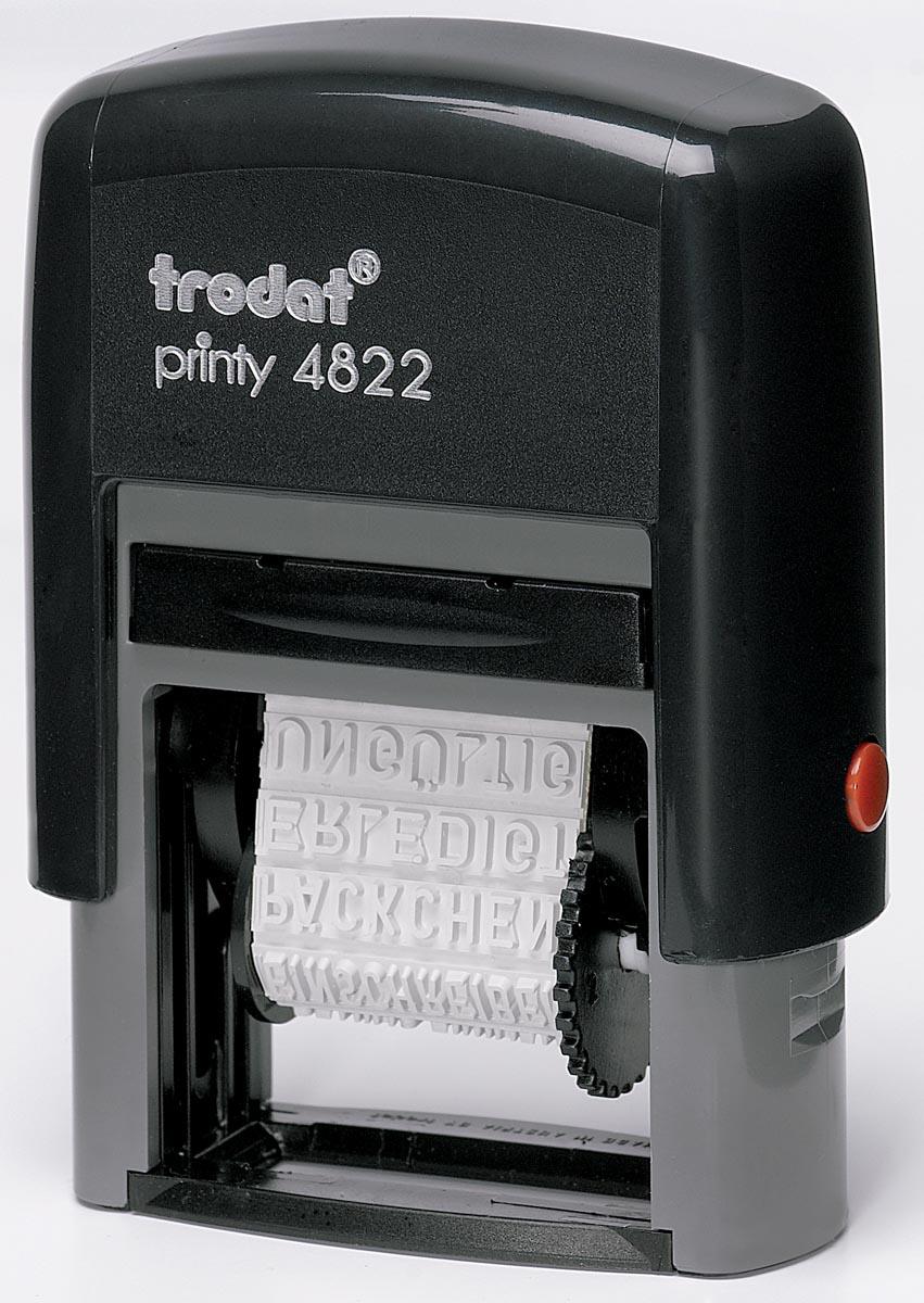 Trodat tekststempel Printy Line 4822 woorden: priority, betaald, spoed, aangetekend, kopie, e-mail,
