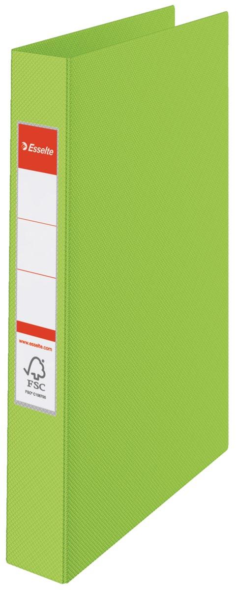 Esselte ringmap PP voor ft A4 rug van 4,2 cm , 23 O-ringen van 25 mm, groen