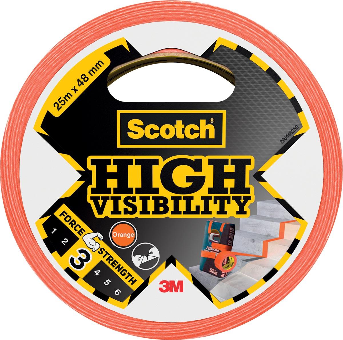 Scotch ducttape High Visibility, ft 48 mm x 25 m, oranje
