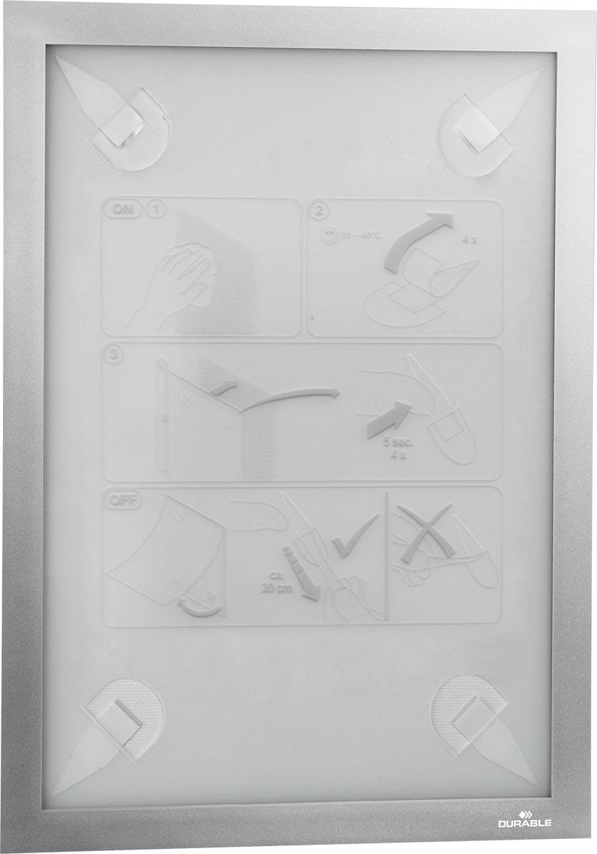 Durable Duraframe Wallpaper zelfklevend kader formaat A4, zilver