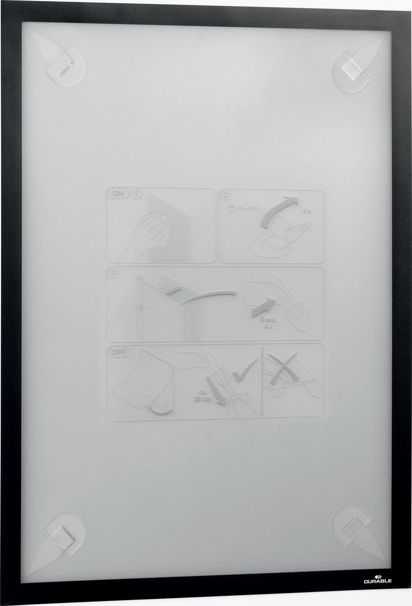 Durable Duraframe Wallpaper zelfklevend kader formaat A3, zwart