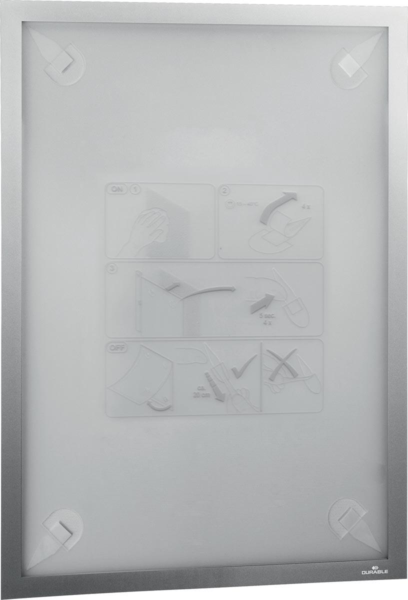 Durable Duraframe Wallpaper zelfklevend kader formaat A3, zilver