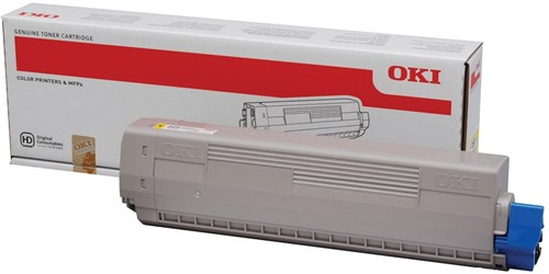 Oki Toner Kit geel - 10000 pagina's - 44844505