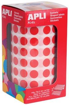 Apli Kids stickers op rol, cirkel diameter 10,5 mm, rood