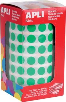 Apli Kids stickers op rol, cirkel diameter 10,5 mm, groen