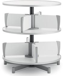 Moll klasseerzuil Multifile, 2 verdiepingen, hoogte 87 cm, voor maximum 48 ordners, wit
