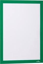 Durable Duraframe informatiekader met magnetische rand, A4, groen, pak van 2