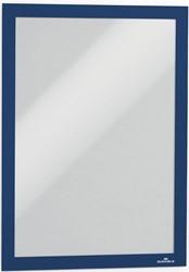 Durable Duraframe ft A4, blauw, pak van 2 stuks
