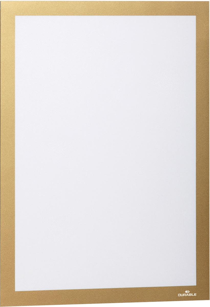 Durable Duraframe informatiekader met magnetische rand, A4, goud, pak van 2