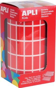 Apli Kids stickers op rol, rechthoek 20 x 10 mm, rood