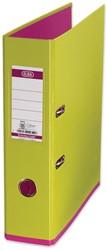 Elba ordner MyColour ft A4, rug van 8 cm, lichtgroen/roze