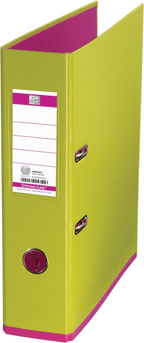 OXFORD MyColour ordner, formaat A4, uit karton, rug van 8 cm, lichtgroen-roze