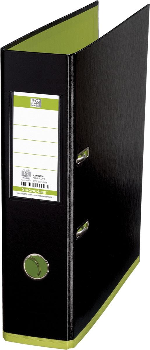 OXFORD MyColour ordner, formaat A4, uit karton, rug van 8 cm, zwart-lichtgroen